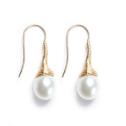 French Wired Pearl Earrings