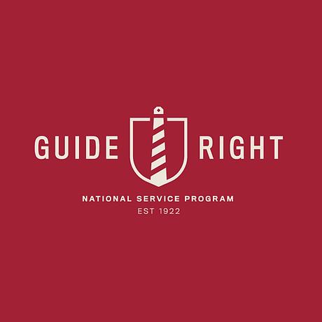 Guide Right_Primary Logo - Crimson Backg