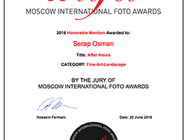 Moscow International Foto Awards Honourable Mention Fine Art