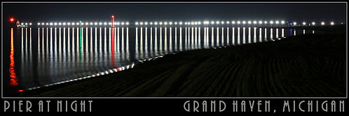 Pier at Night for Floating Frame