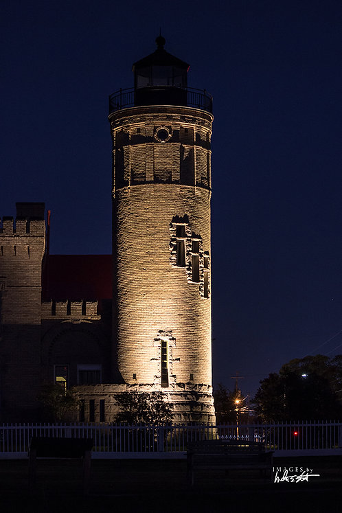 Old Mackinac Point Light At Night