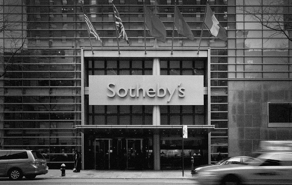 Sotheby's NYC black and white