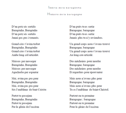 """Chanson du mariage """"Histoire de la baragogne"""""""