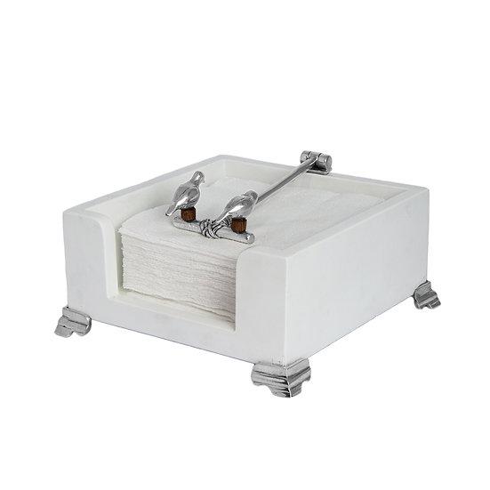 Porta Guardanapo Branco Pequeno - Tangará (15 x 15)
