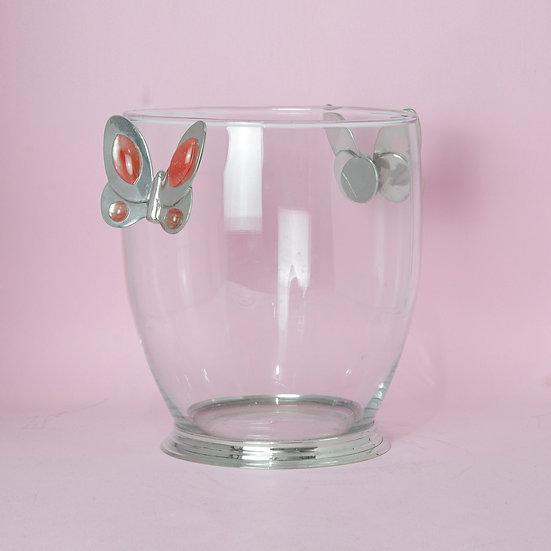 Balde de Gelo Cooler - Pink Butterfly