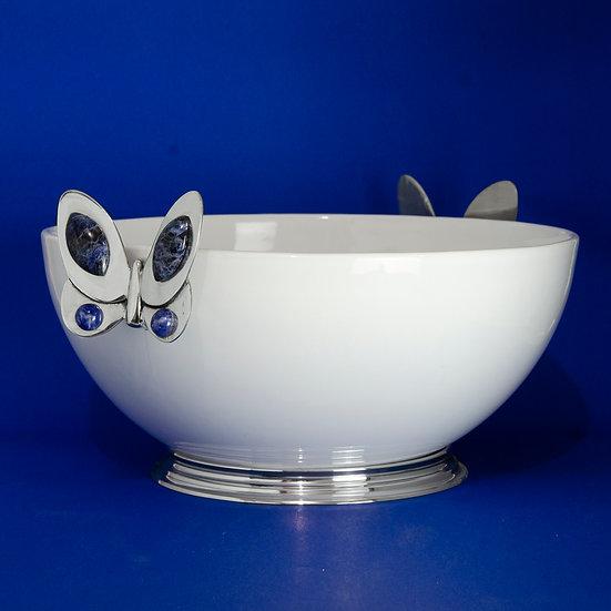 Tigela Bojuda Grande - Blue Butterfly