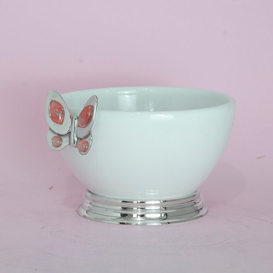 Tigela Bojuda Mini - Pink Butterfly