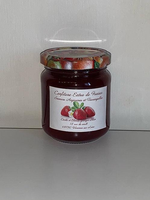 Pot 200g de confiture EXTRA de fraises