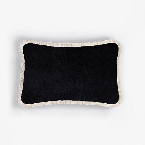Happy Pillow | Black and white