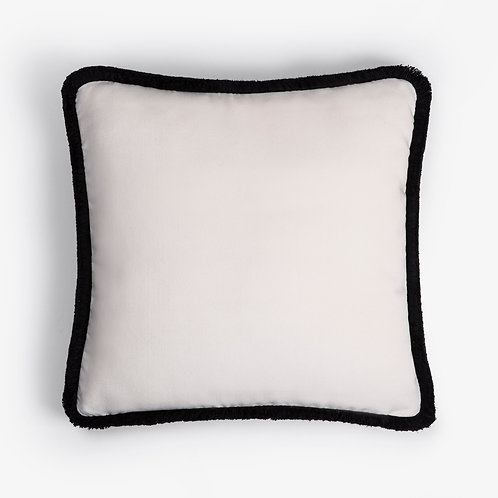 Happy Pillow | White and black