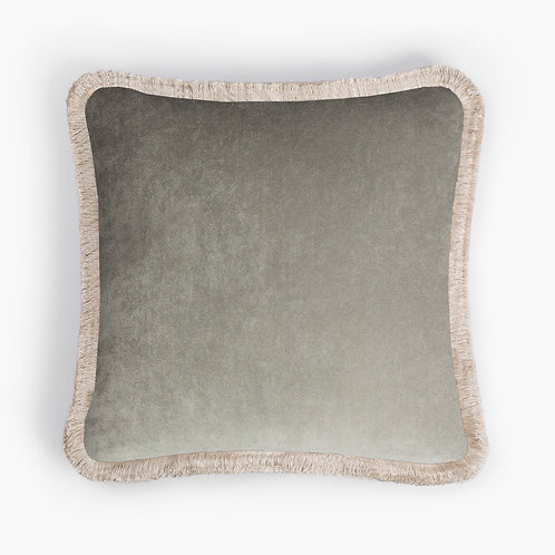 Happy Pillow | Light grey