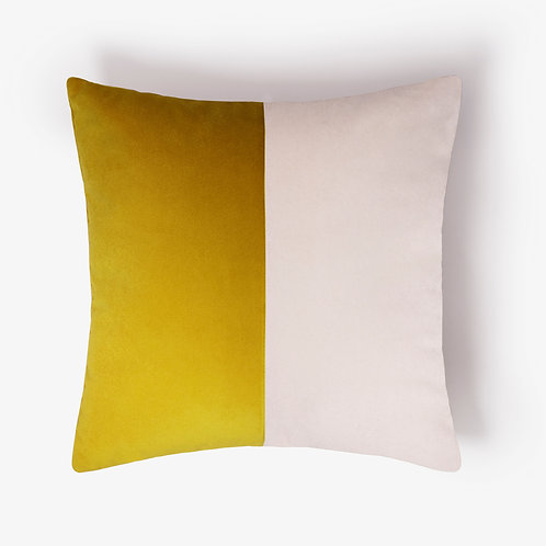 Double Optical | Mustard and white
