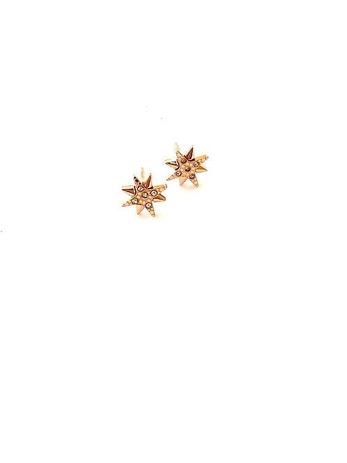 Starburst crystal stud earrings (Rose gold or silver)