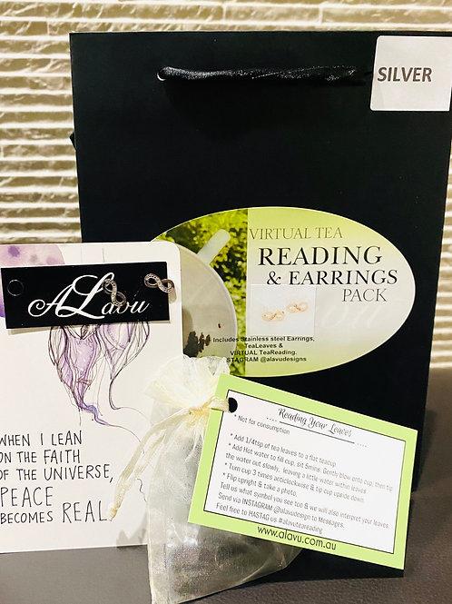 Virtual Tea Leaf Reading & Earrings Gift pack
