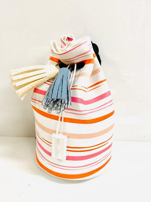 Stripe mini to tie pouch