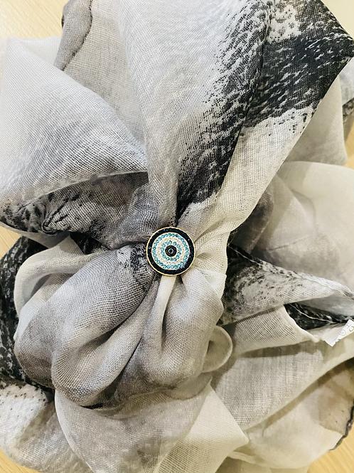 Scarf Bling box Grey Mist scarf design
