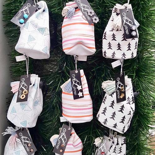 Mini stripe pouch  (various colours)  pack 6