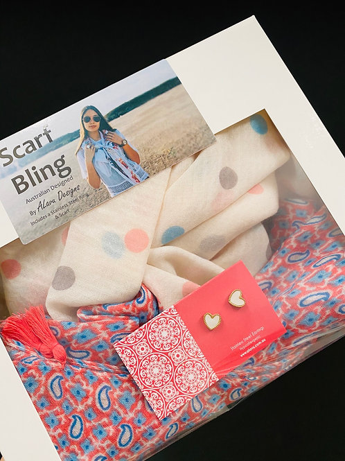 Scarf Bling Earring box PACK 15