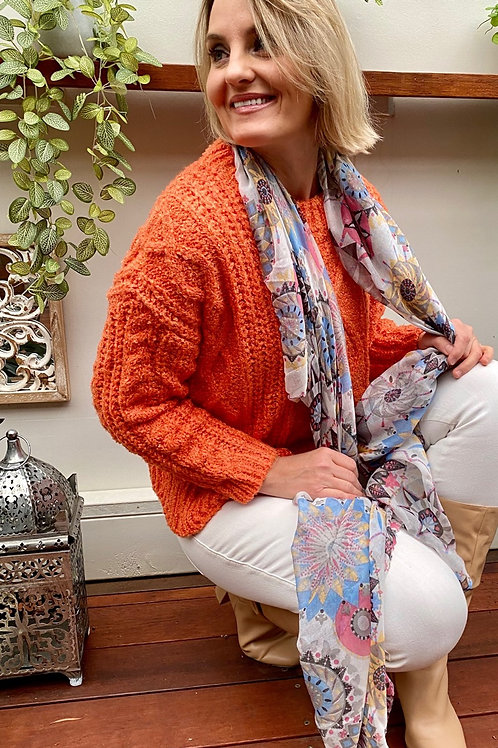 Tangerine Cable Knit