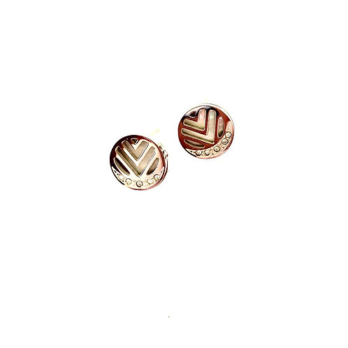 Gatsby crystal stud earrings (Rose gold or silver)