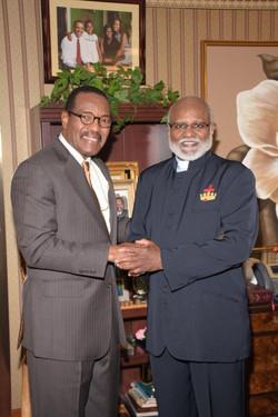 Papa and Bishop Blake