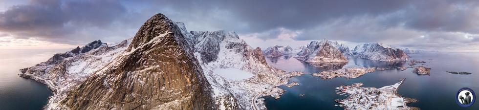 Blick auf den Reinefjord
