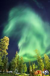 Corona Polarlicht über Saariselkä