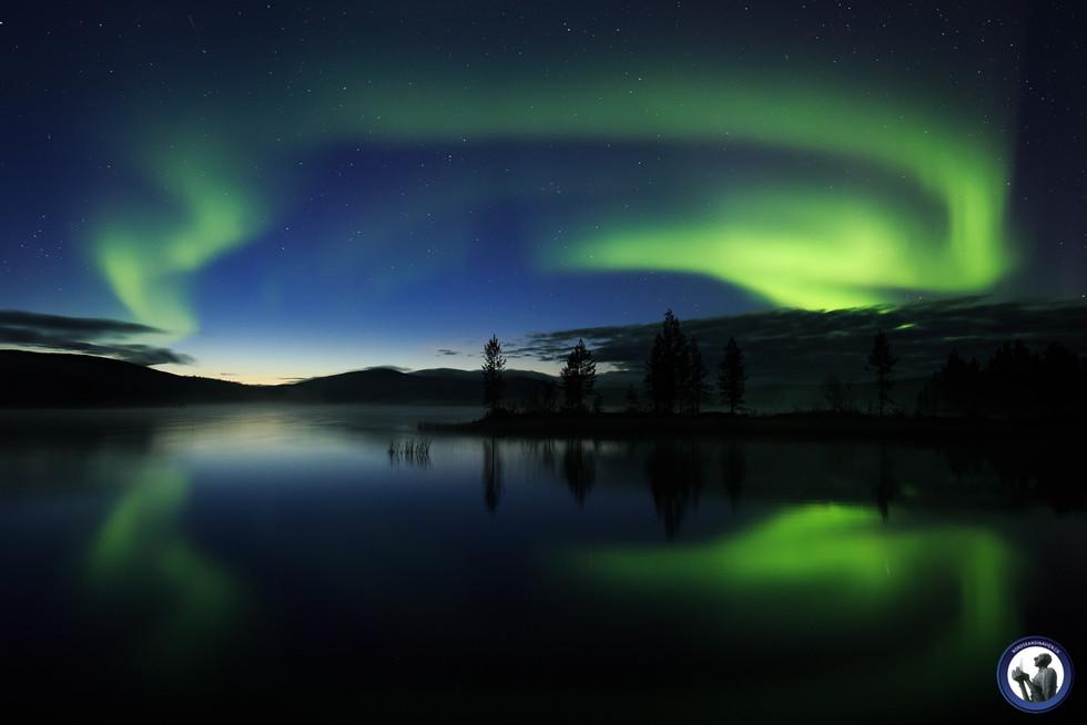 Polarlicht im Urho Kekkonen Nationalpark