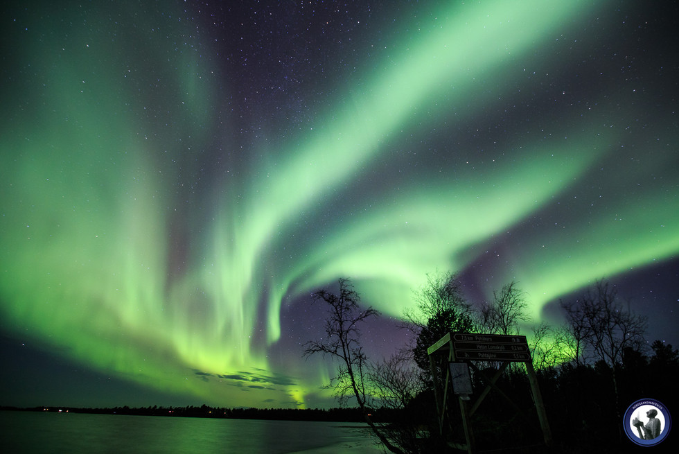 Polarlichter in Enontekiö Finnisch Lappland