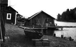 Sjöbodar i Boo 1942