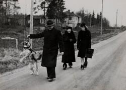Familjepromenad Annandag Jul 1946
