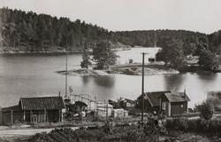 Fiskeläget i Saltsjö-Boo 1942