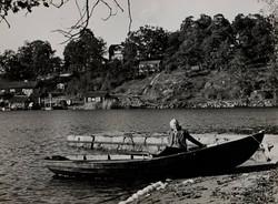 Solveig Sundstedt på Skogsö 1943