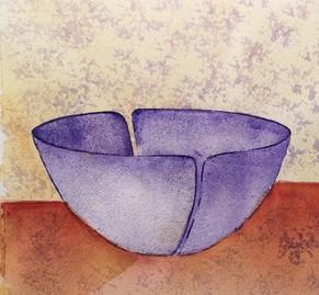 Blå skål