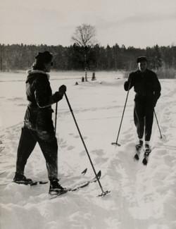 Skidor vintern 1948