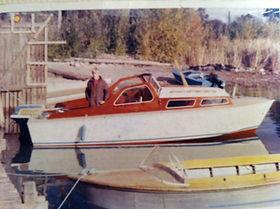 Första sjösättning 1969. I bakgrunden en Cyklon II