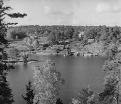 Fiskeläget i Saltsjö-Boo 1943