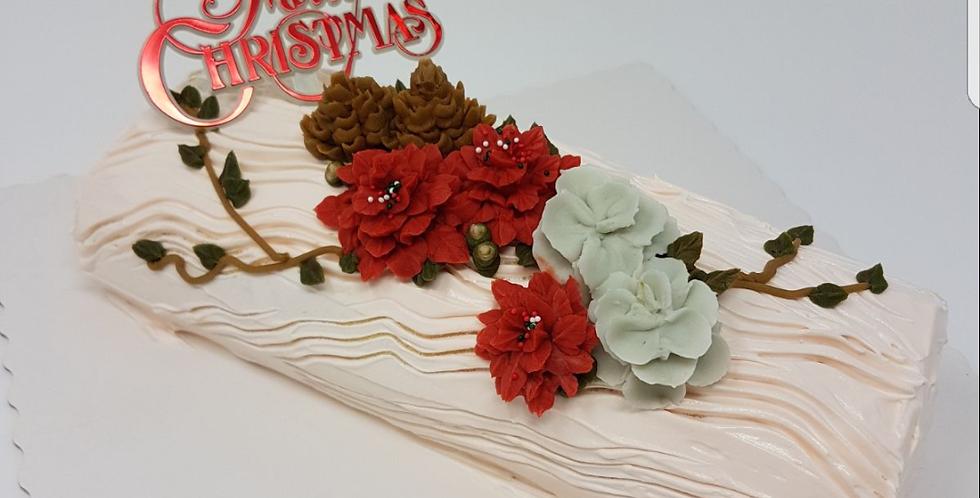 Lychee Martini Log Cake