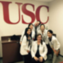 Students from the USC PA program gather after an OSCE.