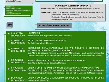 Curso de Metodologia Científica 2020 HU/UFPI