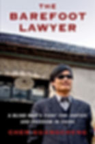 Book cover shows Chen Guangcheng, in sunglasses, standing outside, in front of a Chinese building.