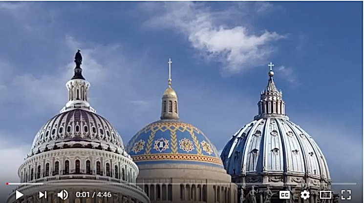 image of three domes symbolizing church, nation & world.