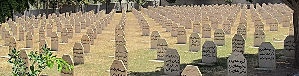 Row after row of headstones seen commemorating the 30th Anniversary of the Halabja Genocide in Iraqi Kurdistan in 1988 by a chemical attack under Iraqi leader Sadam Hussein.