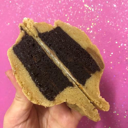 Brownie Stuffed Cookie