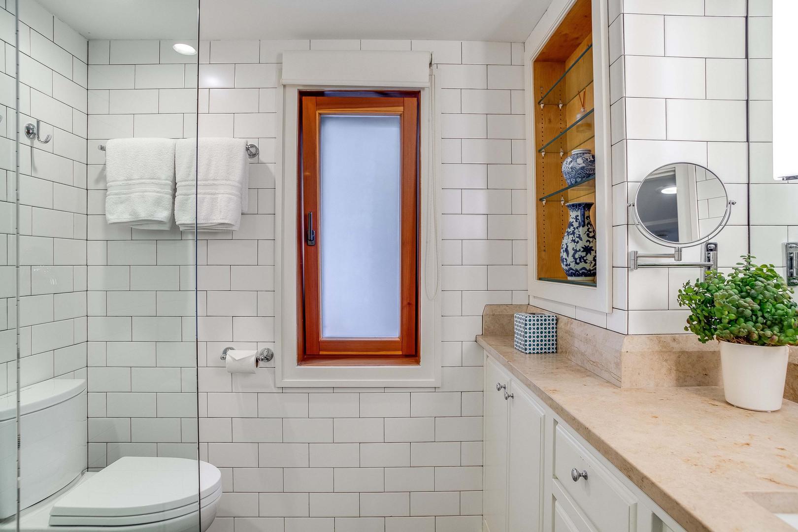 Daylight Fully Tiled Bathroom with Heated Floors