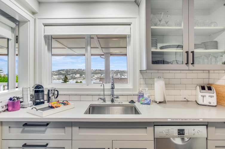 Sink View of Lake Union