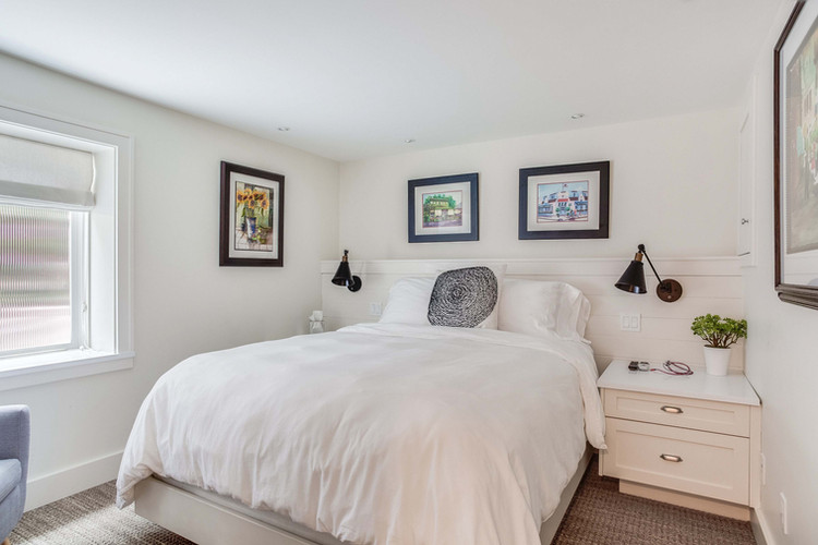 Queen Bed with Built-ins & Reading Lights