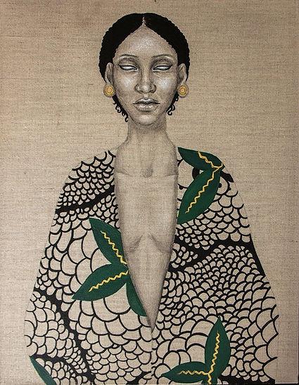 Portrait sur lin