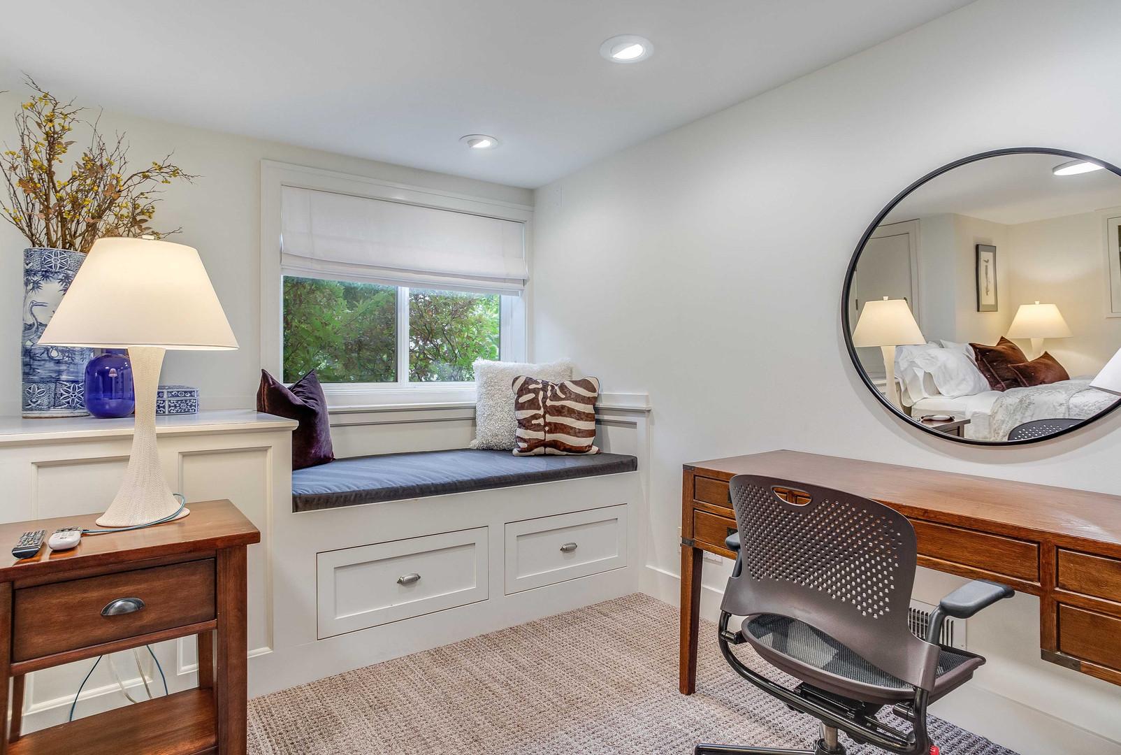 Main Bedroom Window Seat & Desk