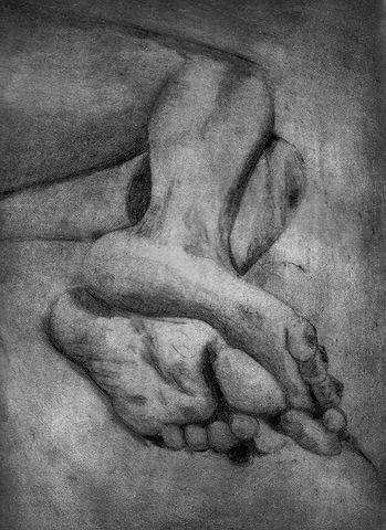 Pointe seche, pieds